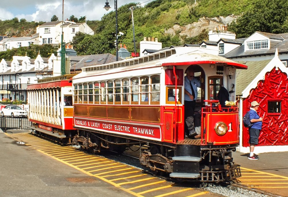Old tramcar n°1 from the Manx electric railway.