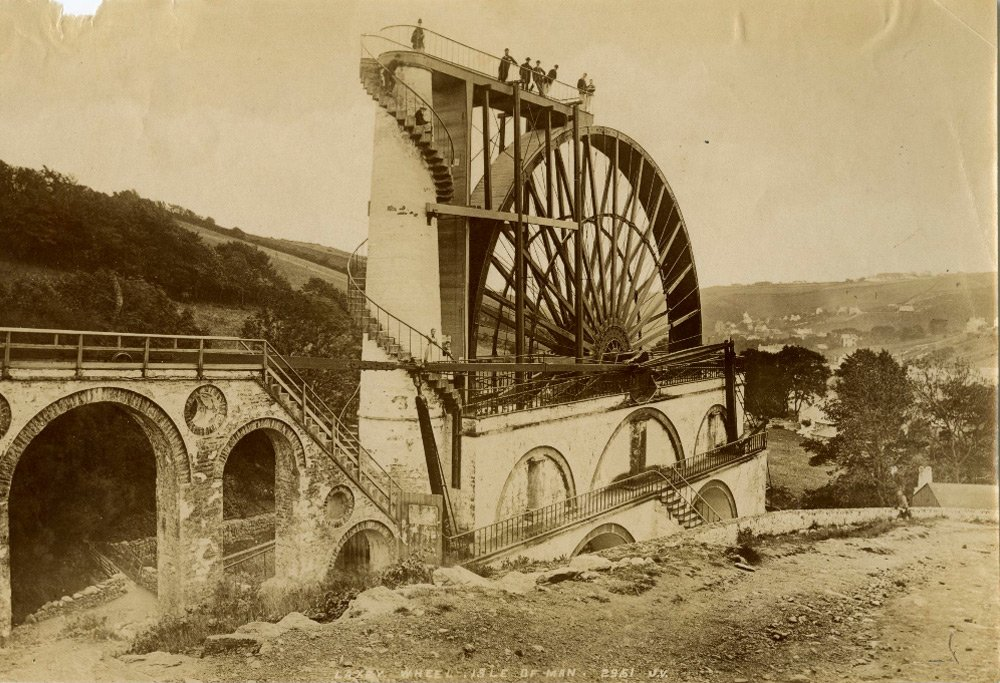 Laxey water wheel old photo