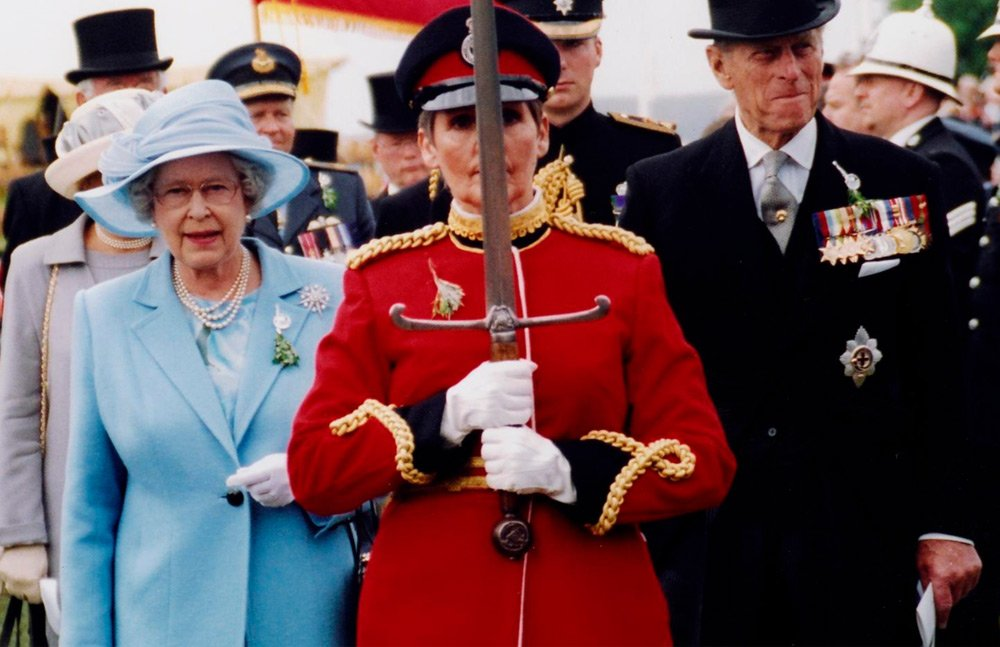 Old picture of the queen visit to the Isle of Man at Tynwald