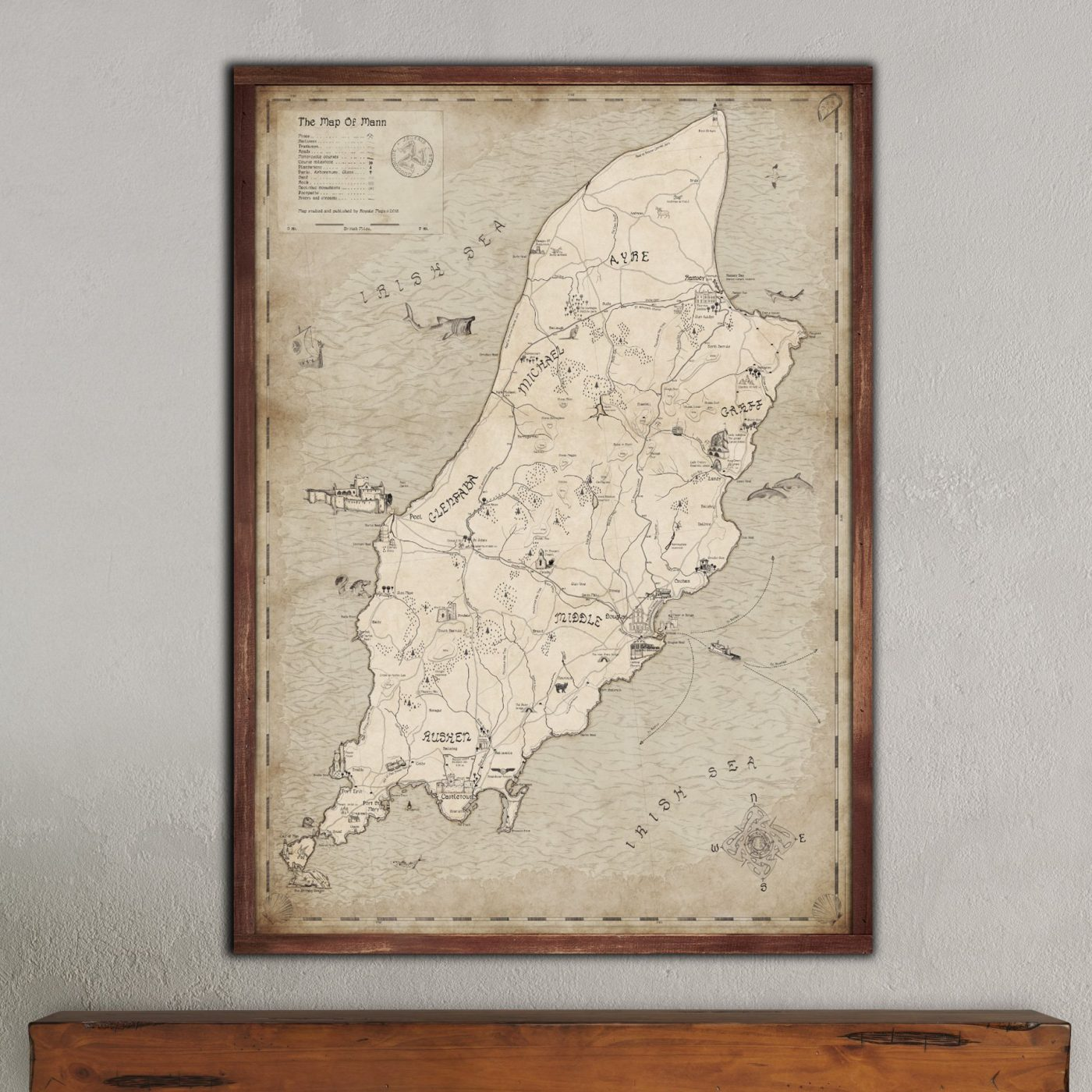 Decorative map of the isle of man