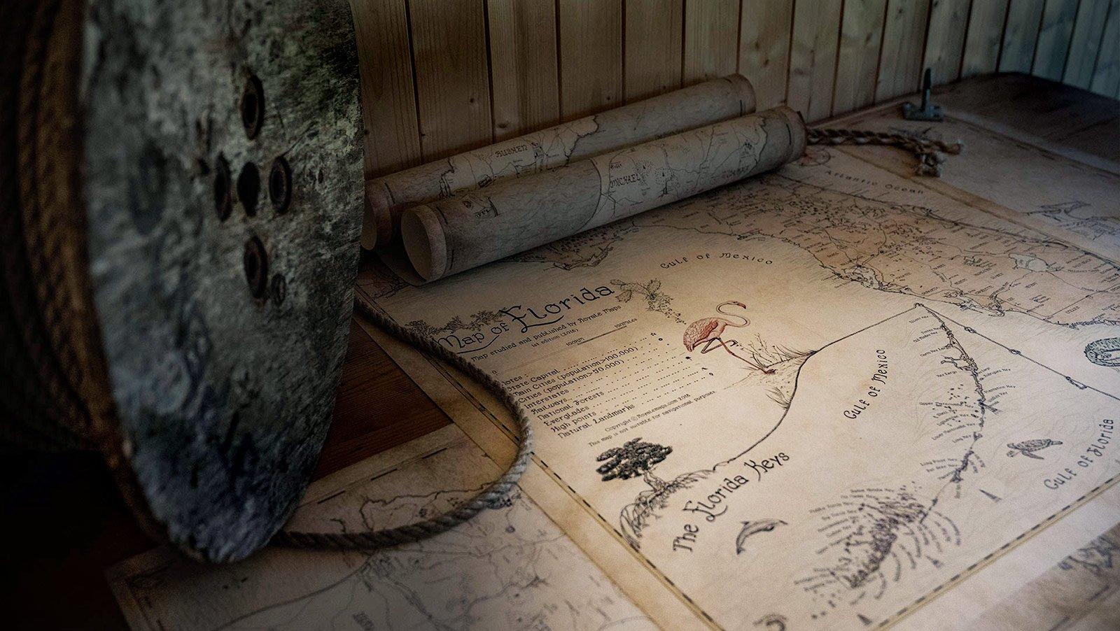 Cartography desk.
