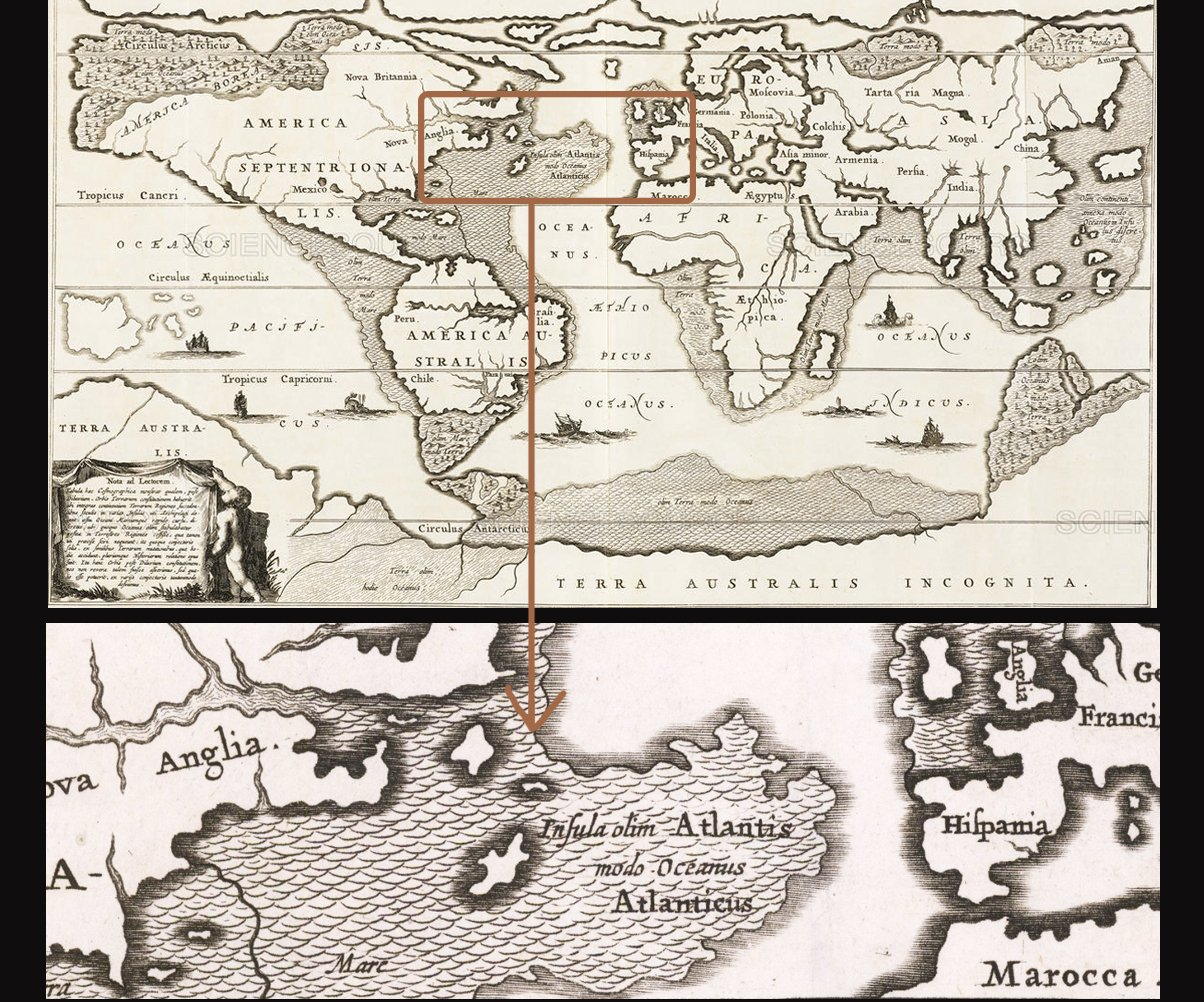 Map of Atlantis dated 1675