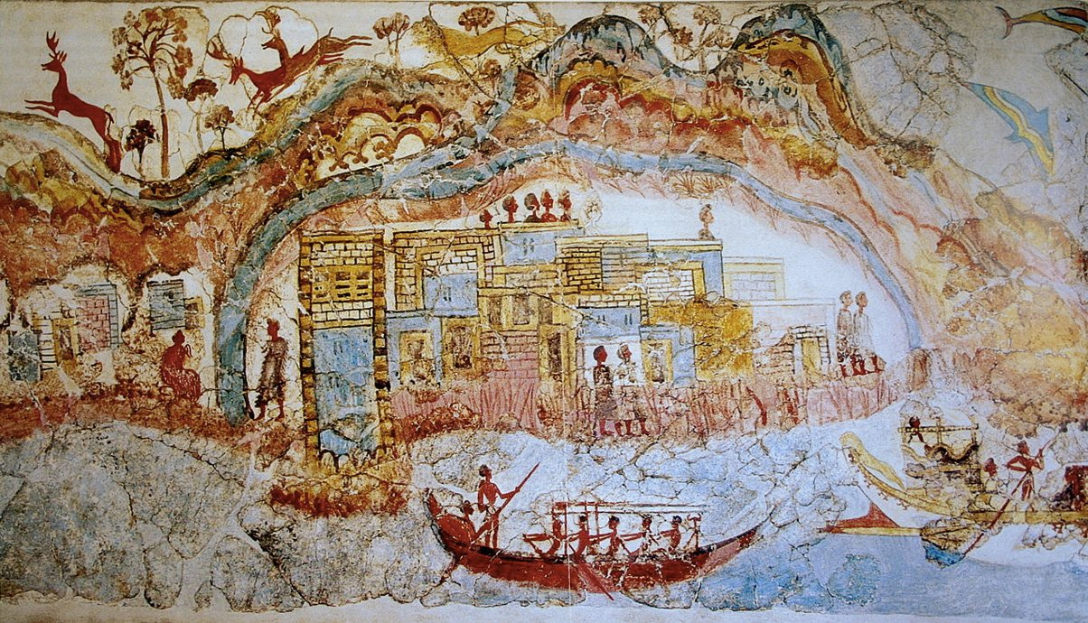 Fresco of Plato's Atlantis Thera