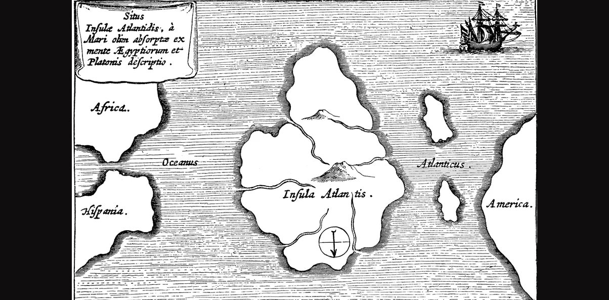 Old Atlantis map from 17th Century