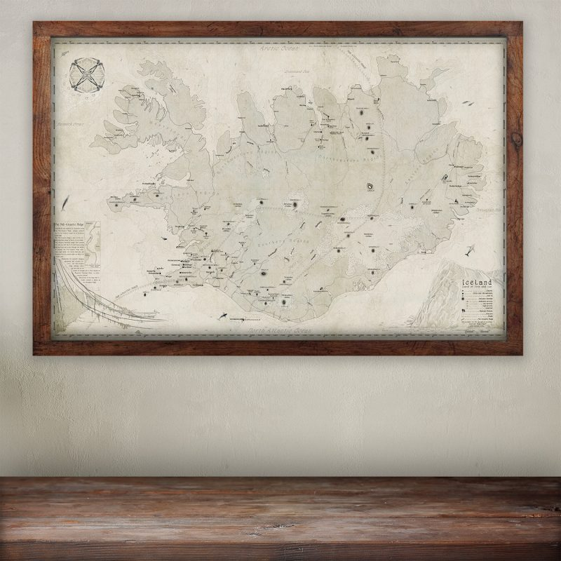 buy Best map-of Iceland print