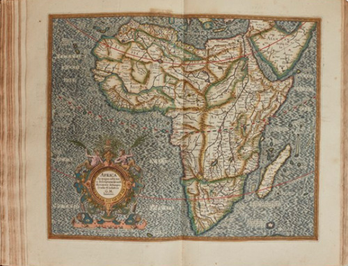 Atlas Map of Africa by Mercator. (1595)