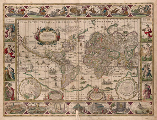 Blaeu's Map of The World (1606)