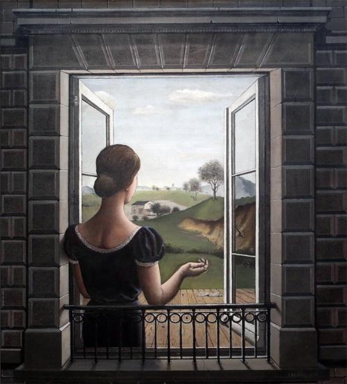 """Paul Delvaux, """"La Fenêtre"""" (1936)"""