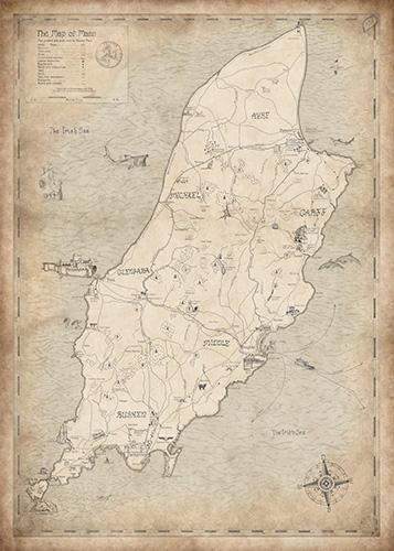 Isle of Man wall map art.