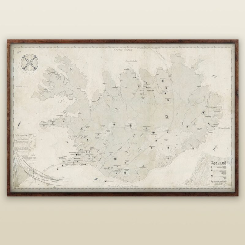 Buy beautiful Map of Iceland