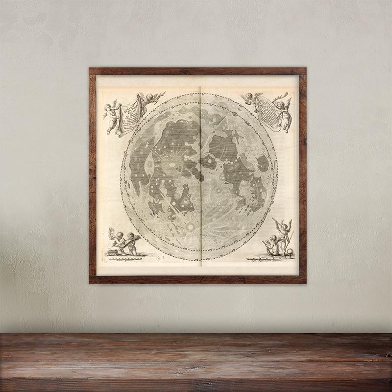Jan Hevelius Selenographia image print.