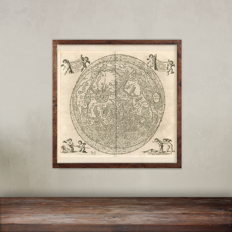 Buy Johannes Hevelius Selenographia image print. Free Shipping.