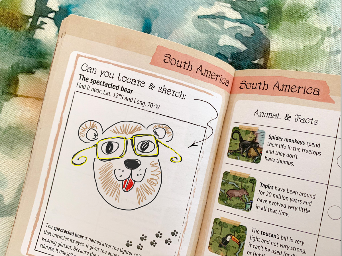 Buy learning world map with animals for kids.