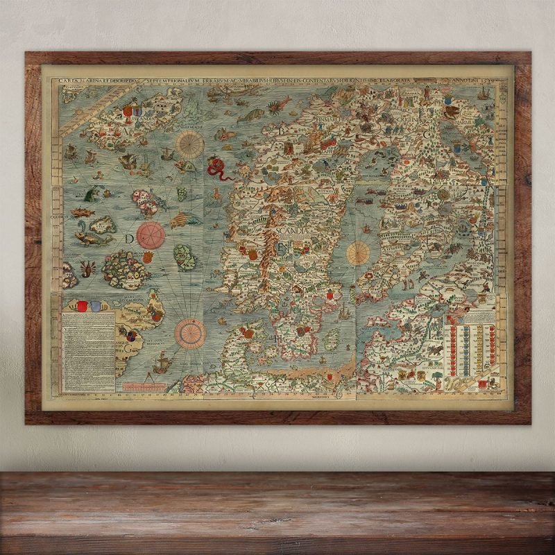 the Carta Marina, Iceland monster map.