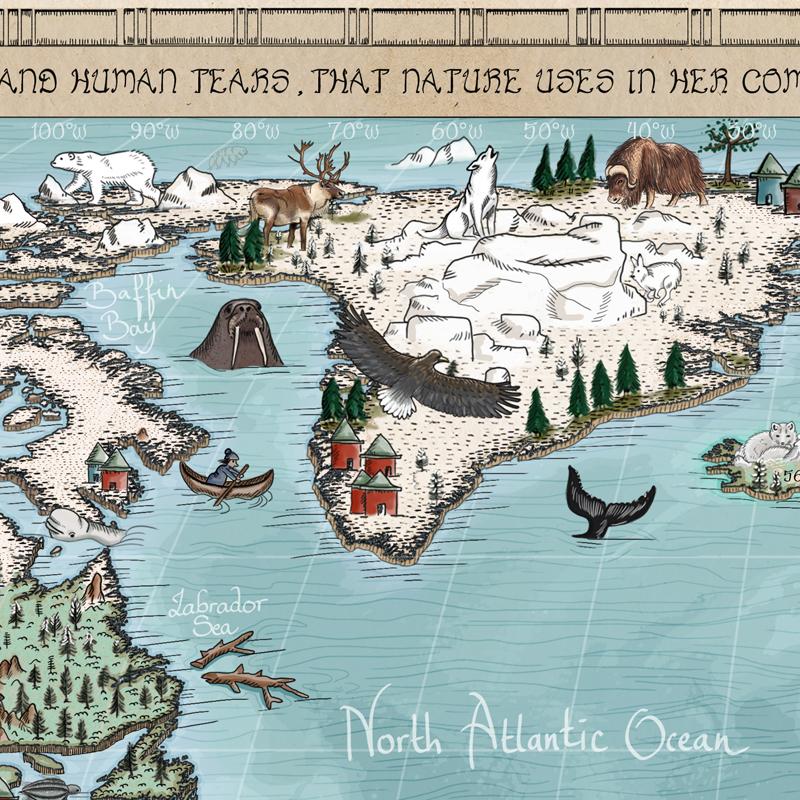 Best cartoon world map for kid