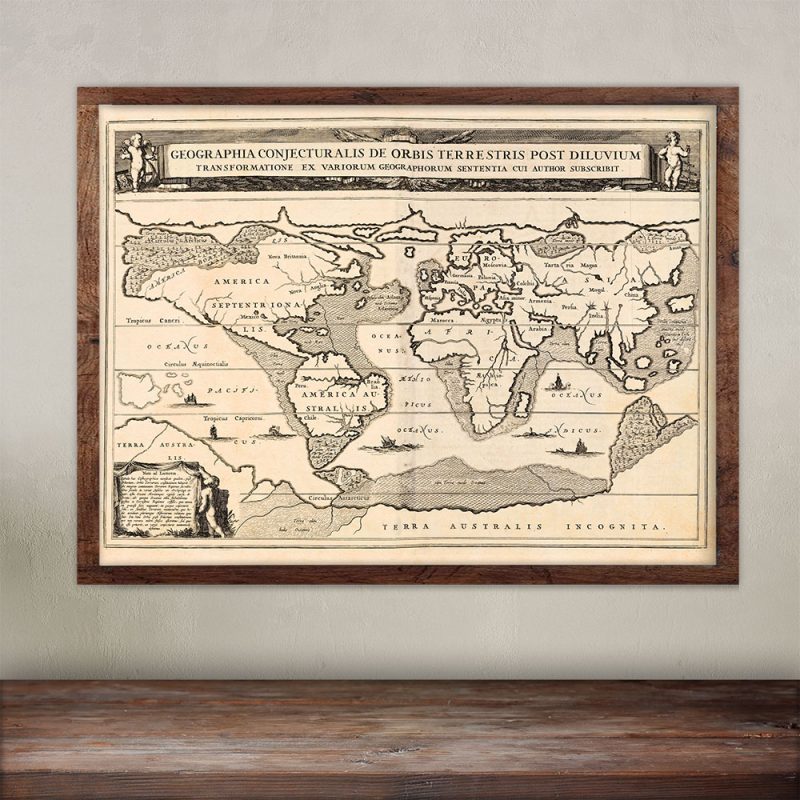 First map of Atlantis dated 1675.